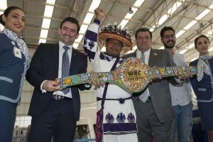 Cinturón huichol que será entregado al ganador de Canelo vs Chávez Jr., está terminado