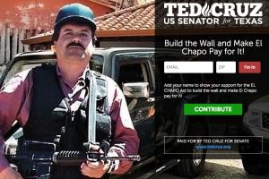 Ex rival de Trump propone pagar muro con dinero de 'El Chapo'