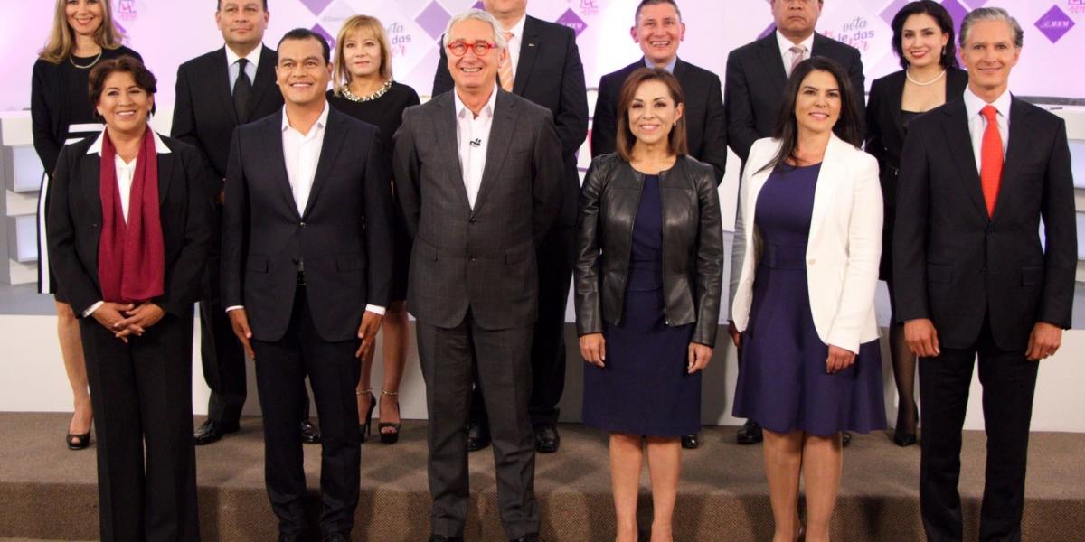 Candidatos se enfrascan en acusaciones de corrupción durante debate en Edomex