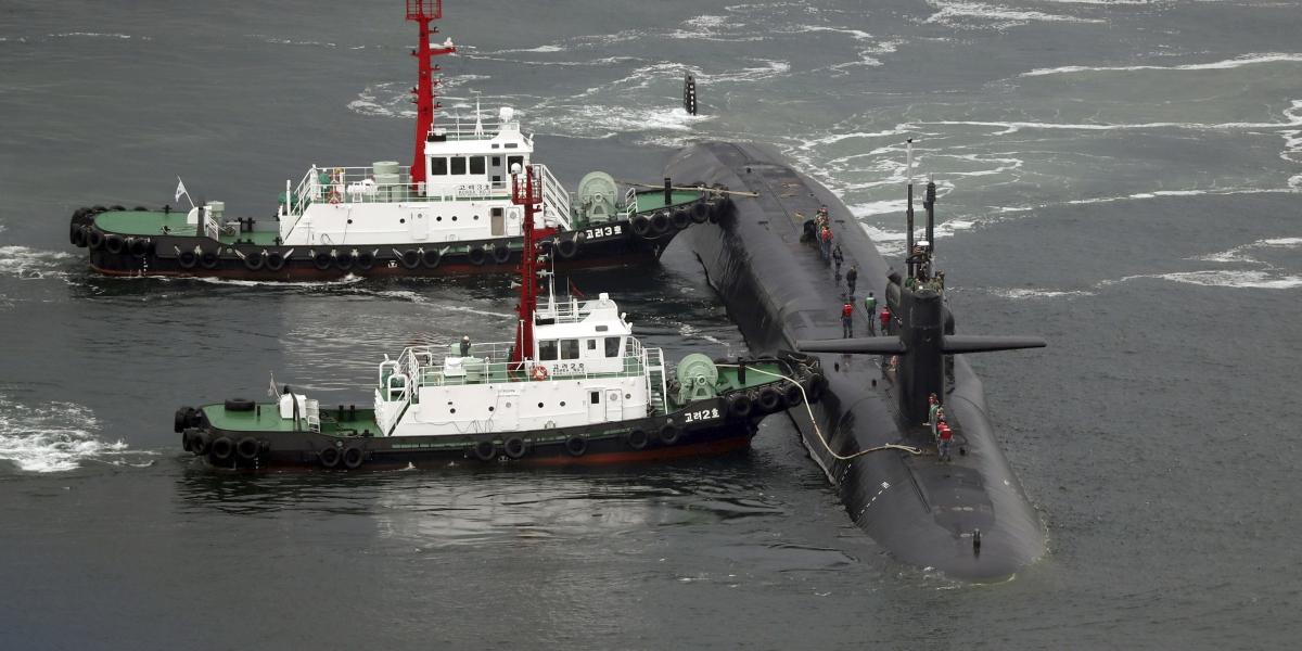 Submarino de EU llega a Corea del Sur para unirse a maniobras militares