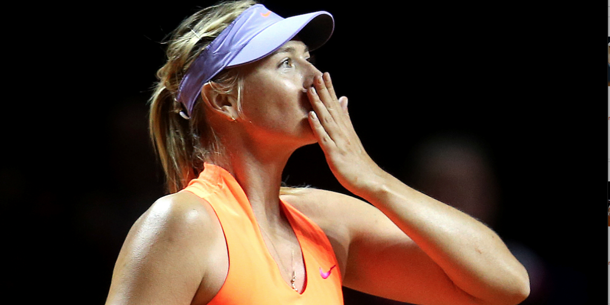 Tras cumplir sanción por doping, reaparece Sharapova con triunfo