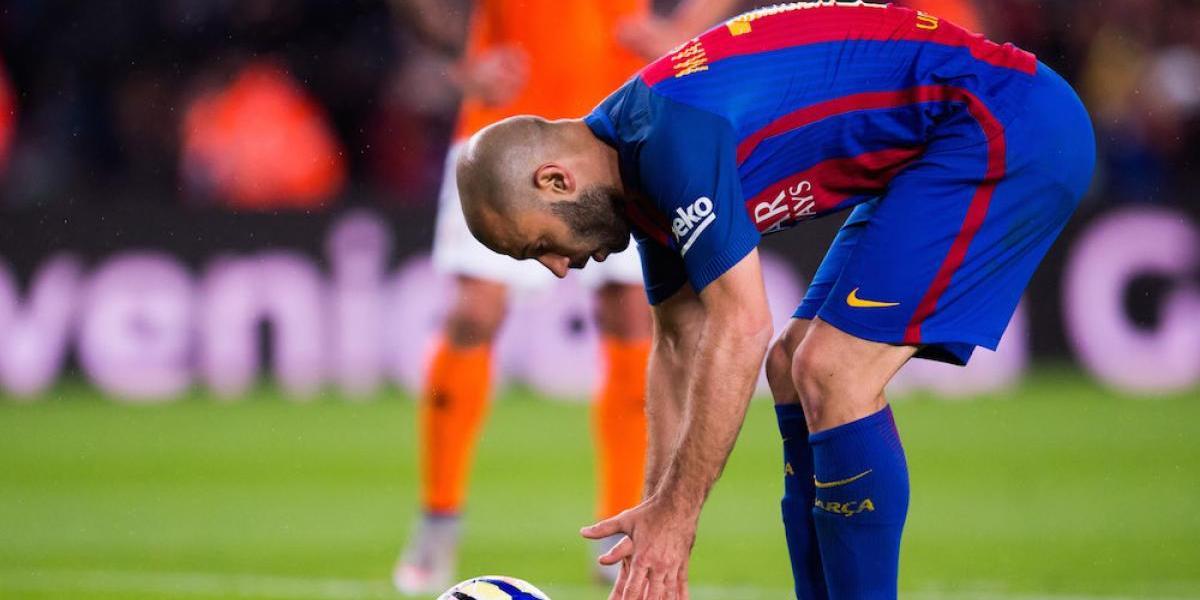 Pasaron ¡siete años! para que Javier Mascherano anotara con el Barcelona