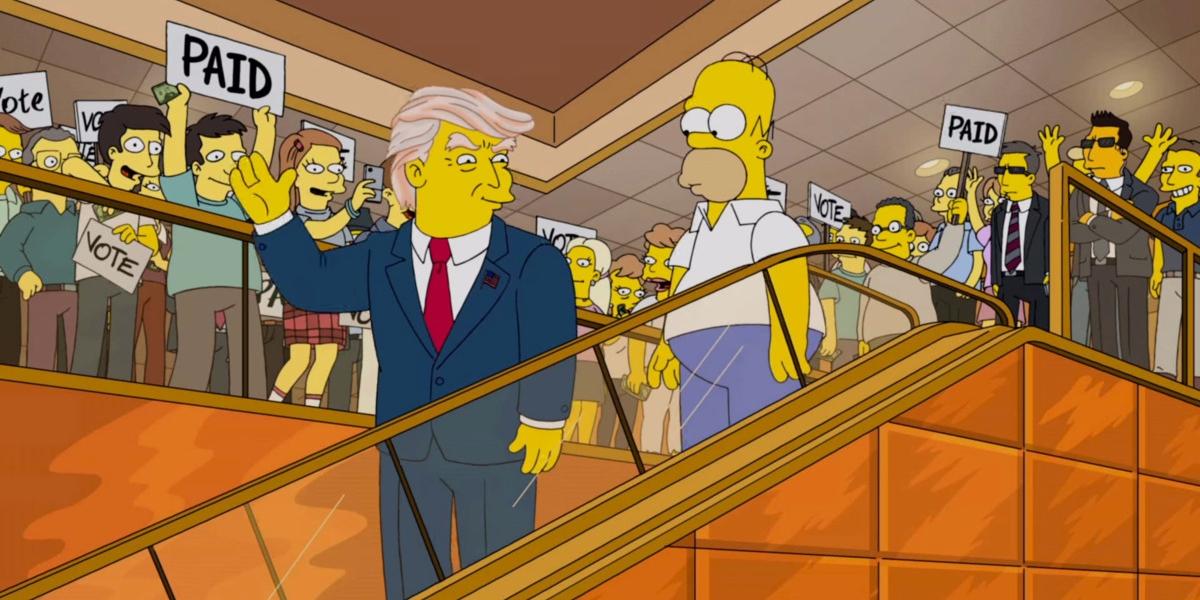 """""""Los Simpson"""" bromea sobre los primeros 100 días de Trump"""