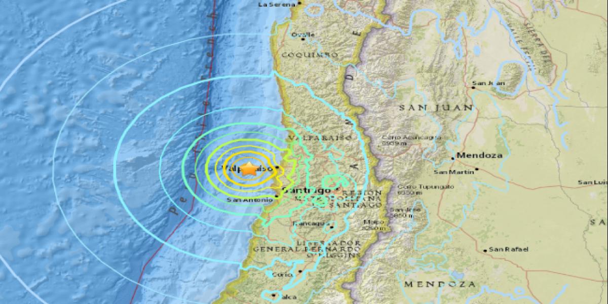Revelan efecto de sismo 6,9 en Valparaíso: magnitud del temblor hundió la ciudad 2 centímetros