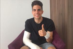FOTO: Marc Bartra muestra como quedó su herida tras el atentado