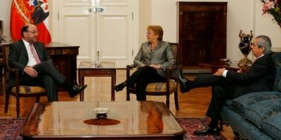 Bachelet recibió en La Moneda a la directiva de la CPC