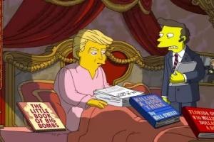 Los Simpson se burlan de los primeros 100 días de Donald Trump