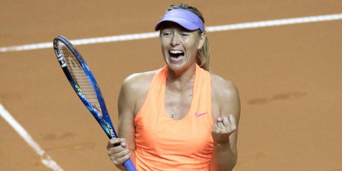 Sharapova no para de ganar en su retorno al tenis tras sanción por dopaje