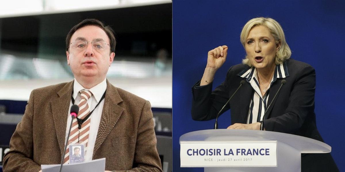 Renuncia presidente del partido de Le Pen por comentario sobre el Holocausto