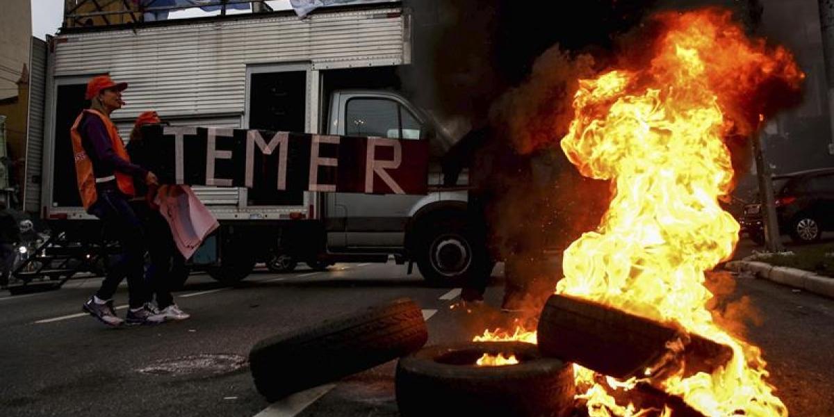 Protestas contra reformas de Temer hacen temblar a Brasil