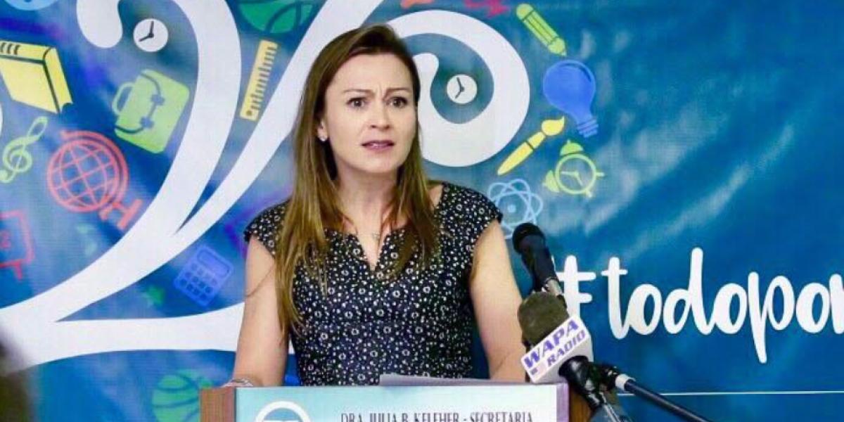 Keleher advierte descuento de nómina a maestros que acuden al Paro Nacional