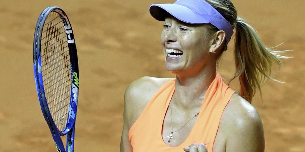 María Sharapova sigue ganando en Stuttgart, pese a las críticas