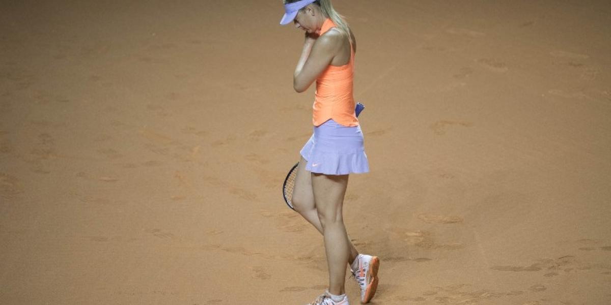 Sharapova cortó la buena racha en su retorno al tenis y se despidió del torneo de Stuttgart
