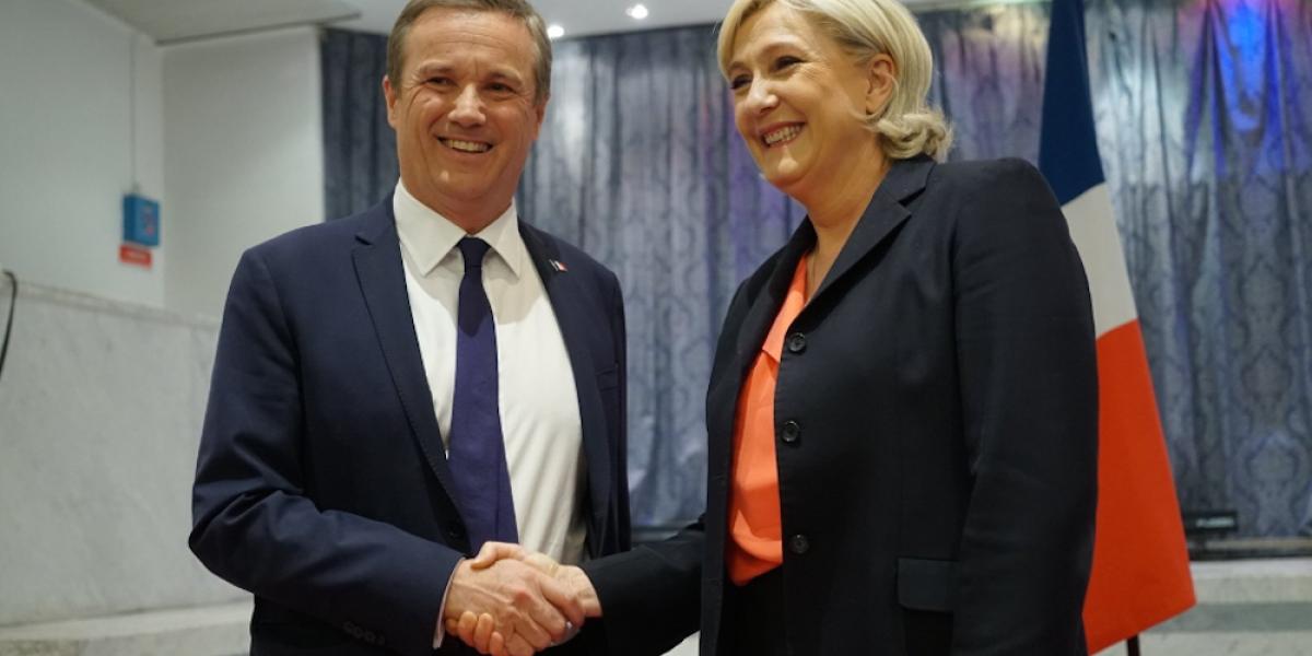 Le Pen hace alianza con la derecha eurófoba rumbo a la segunda vuelta en Francia