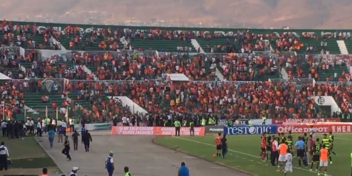 VIDEO: Aficionados de Jaguares invaden la cancha