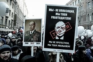 Protestas en Rusia piden que Putin no se presente a la reelección