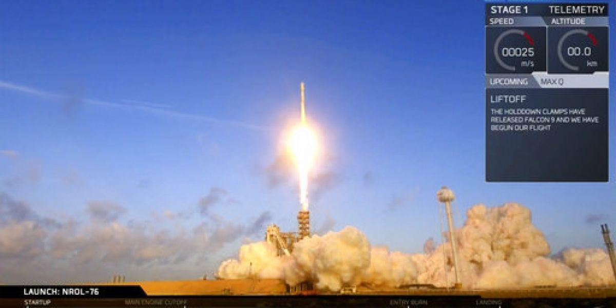 SpaceX lanza satélite espía para agencia de EE.UU.