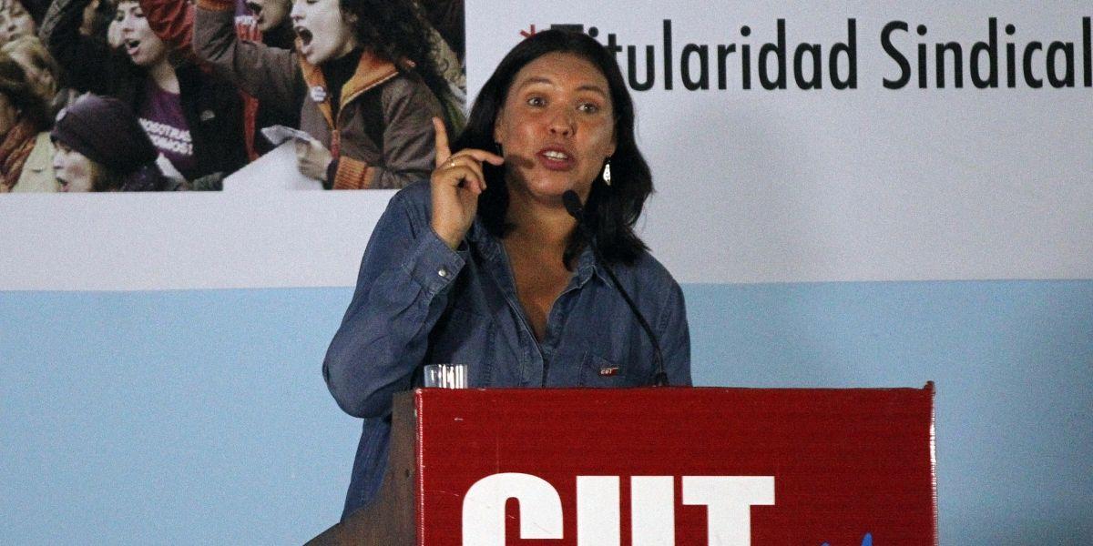 """Presidenta descarta crisis en la CUT: """"Decir que estamos en situación crítica es un juicio extremo"""""""