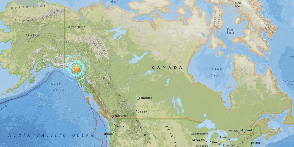 Sismo de magnitud 6.2 sacude Canadá