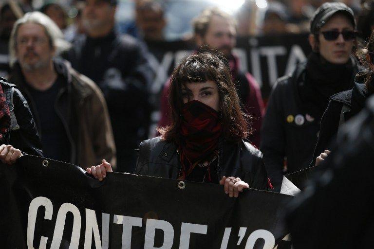 Enfrentamientos en protesta contra Le Pen en Día del Trabajador — Francia
