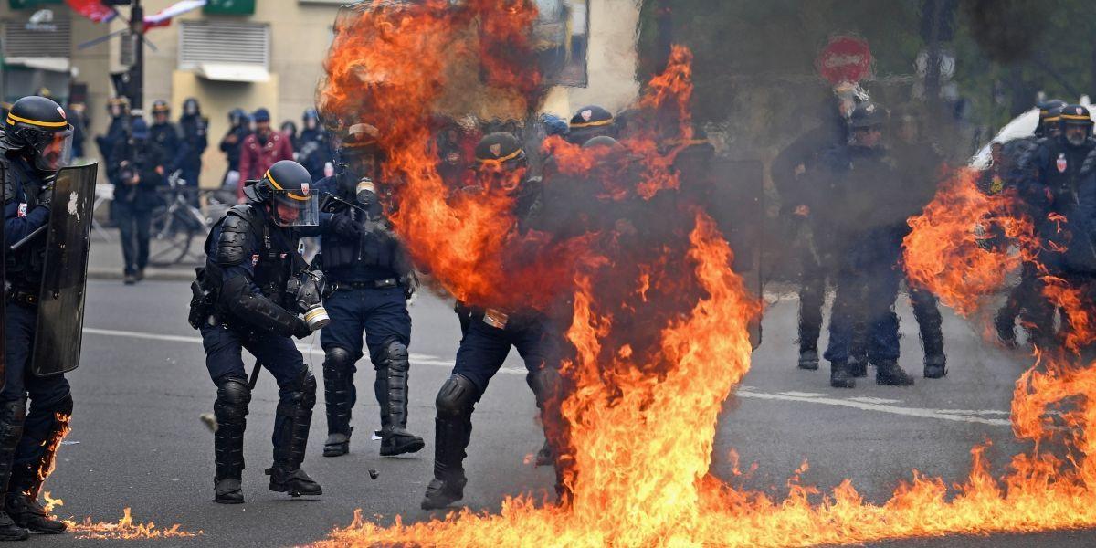 París arde durante protesta contra Marine Le Pen en el Día del Trabajo