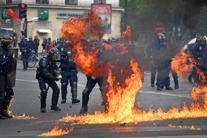 Protestas en París por el Día del Trabajo