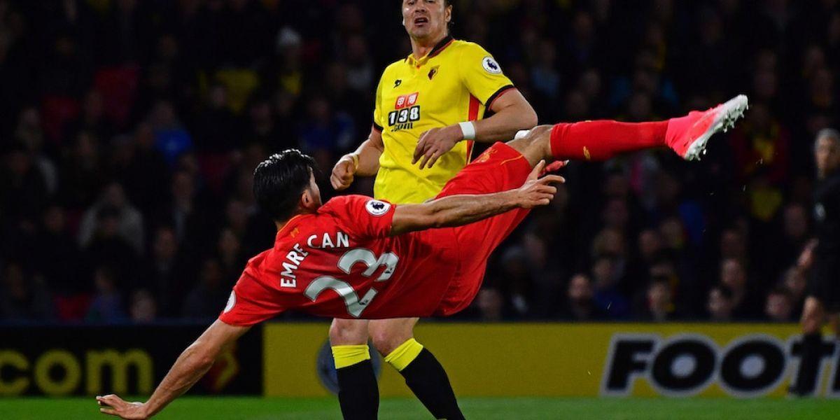 Jugador del Liverpool se luce con golazo de chilena