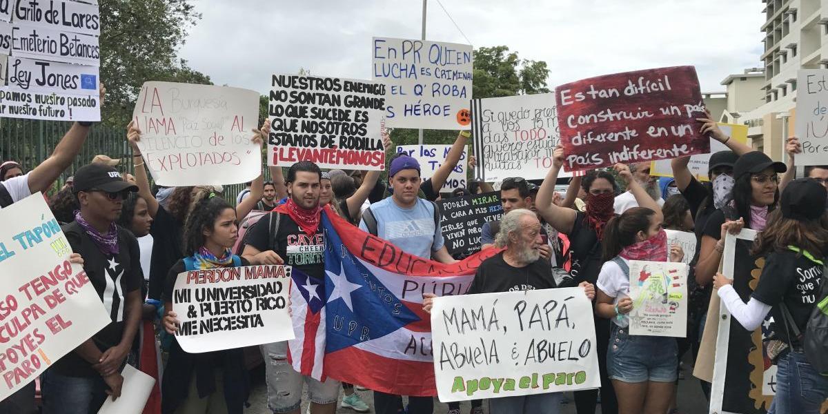 Paro nacional: listos los manifestantes frente a la UPR