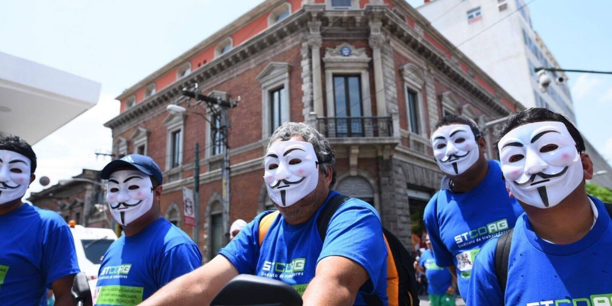 FOTOS. Así transcurre la marcha por el Día del trabajo