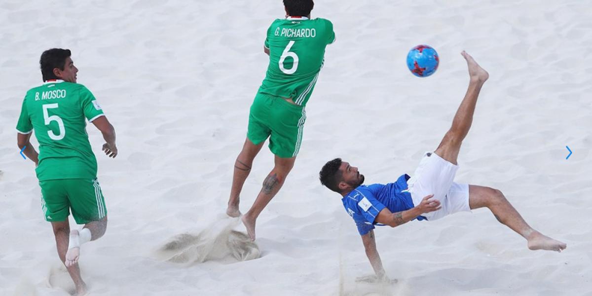 México se despide del Mundial de Futbol de Playa humillado por Italia