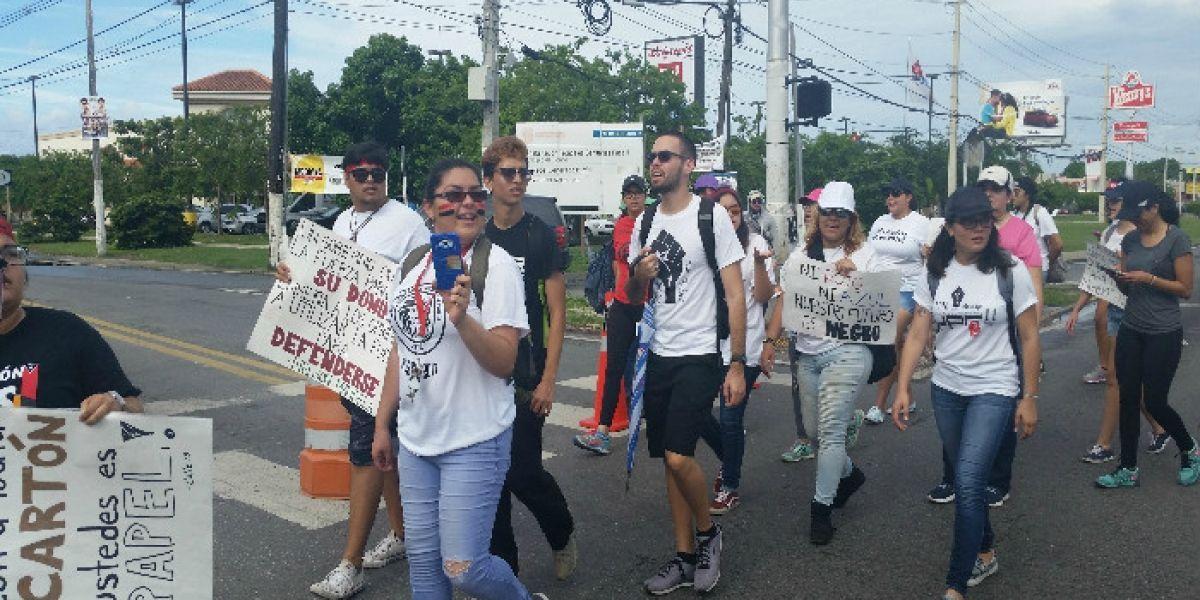 Realizan paro estudiantil en Ponce