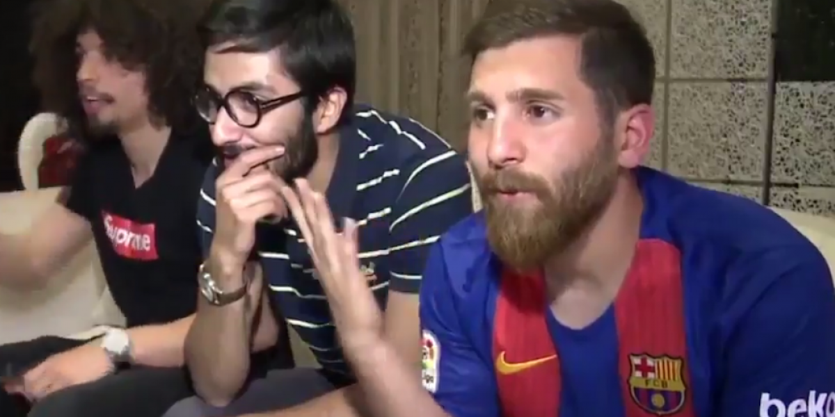 Un iraní es el auténtico doble de Messi