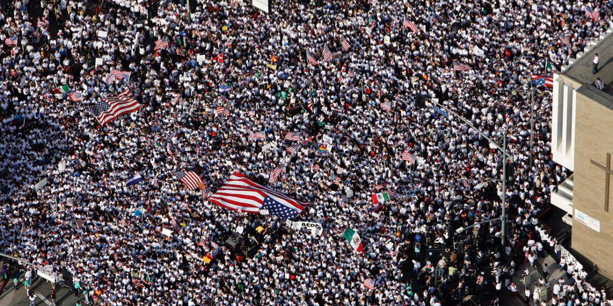 Protestan contra deportaciones ante Casa Blanca