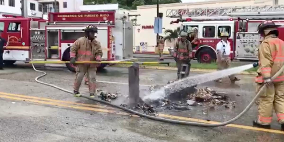 Autoridades apagan fuego reportado durante paro