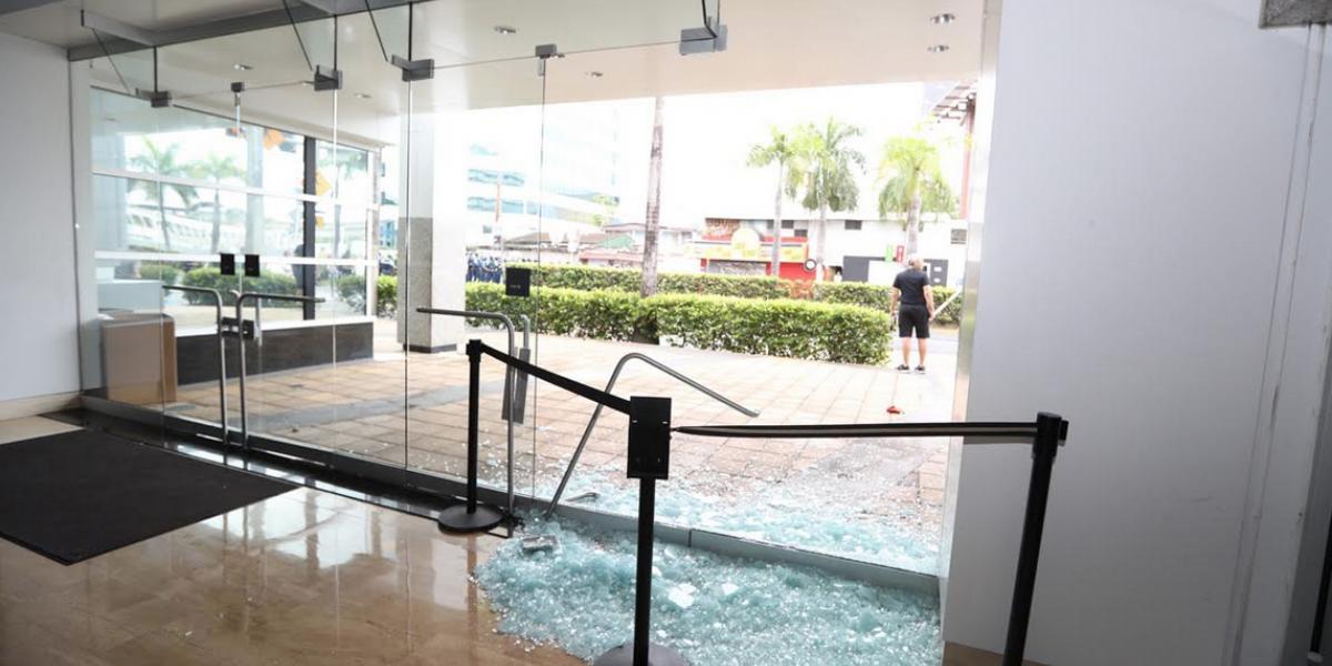 Asociación de Bancos lamenta daños a la propiedad