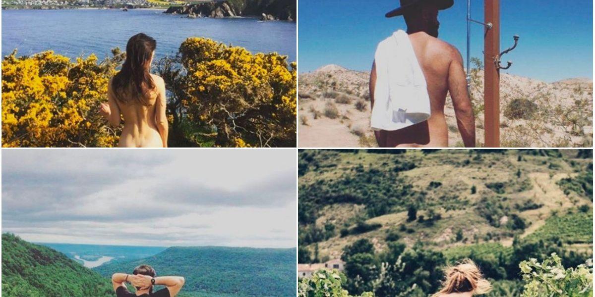 FOTOS: la atrevida tendencia de mostrar el trasero frente a un bello paisaje