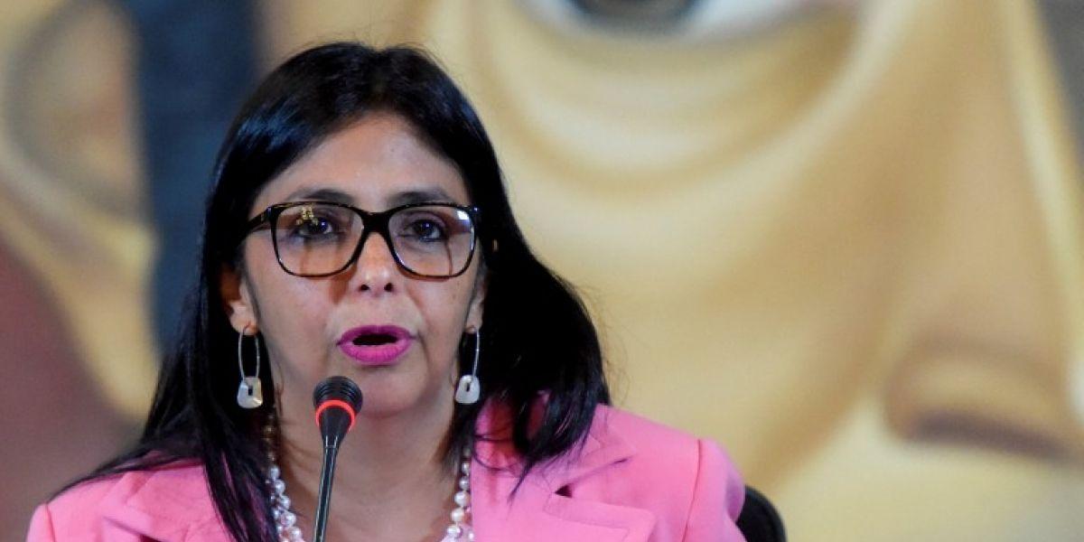 Canciller venezolana Delcy Rodríguez llama golpistas a Chile y otros siete países