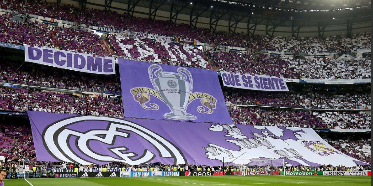 """Real Madrid recibe al Atleti con pancartas de """"burla"""" en el Bernabéu"""