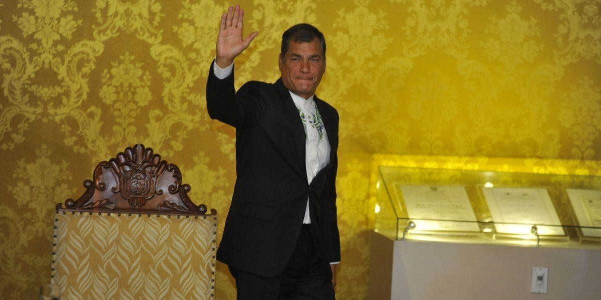 Presidente Correa reivindica logros durante su gobierno
