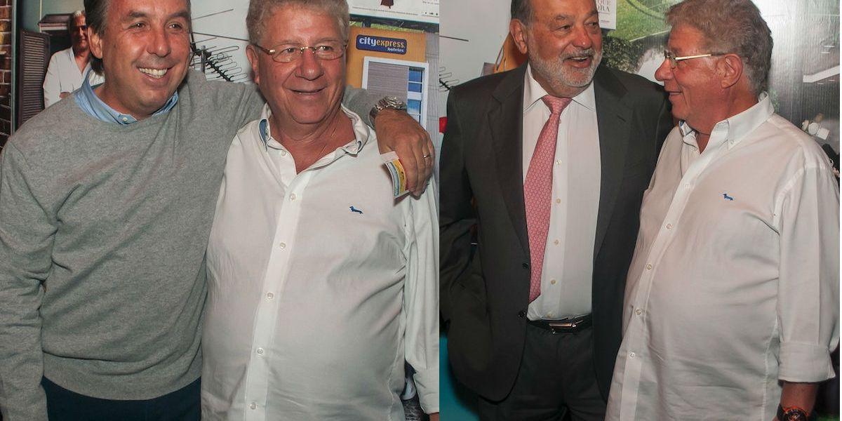 Carlos Slim y Emilio Azcárraga coinciden en la fiesta de Alazraki