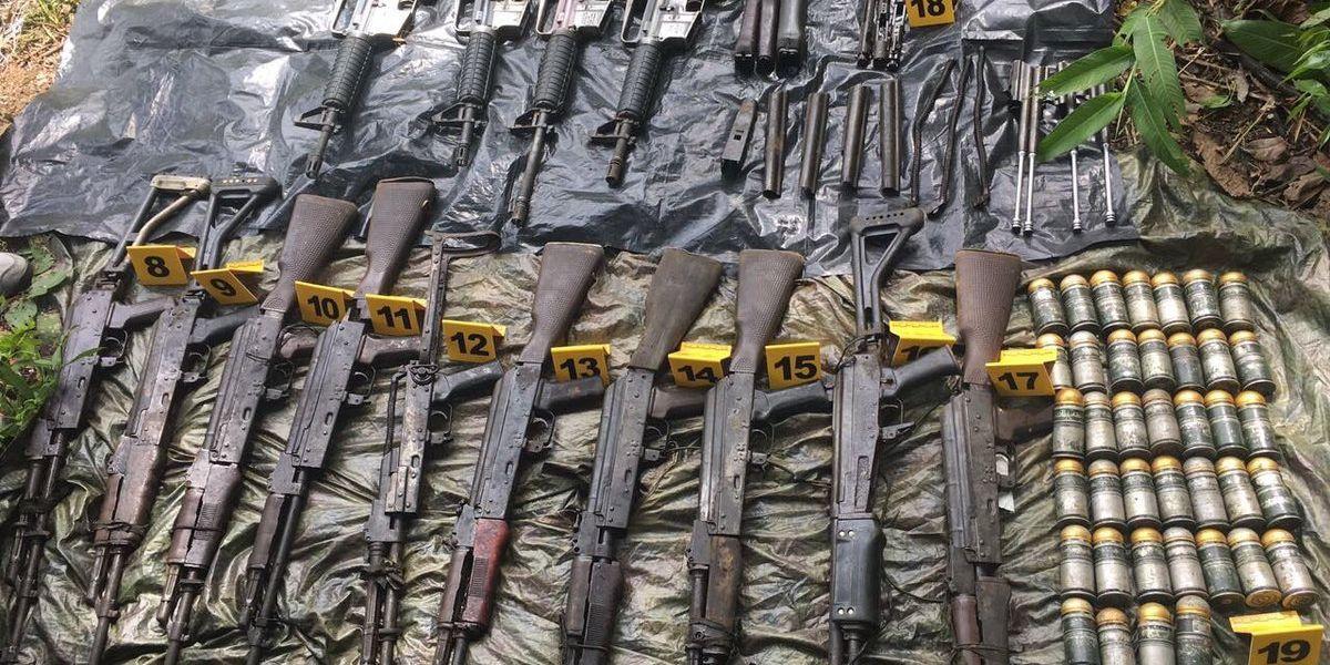 Fuerzas Militares dicen que caleta incautada era de disidentes de las Farc