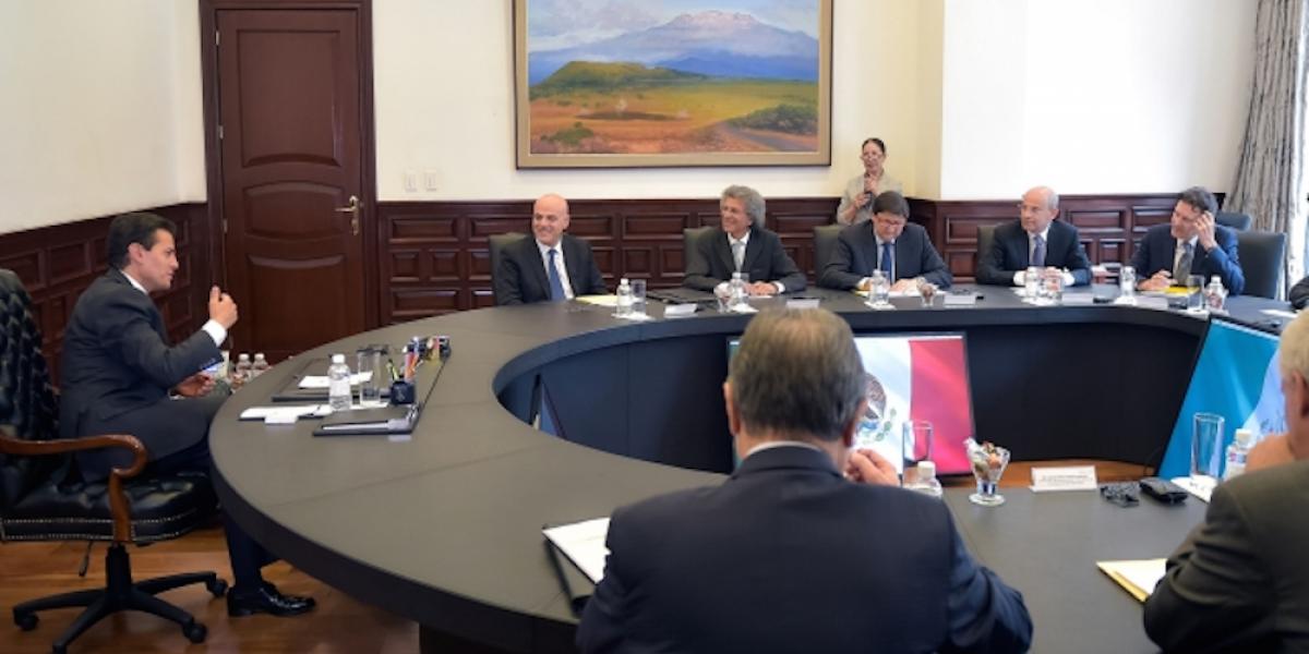 Peña Nieto se reúne con empresa italiana de hidrocarburos