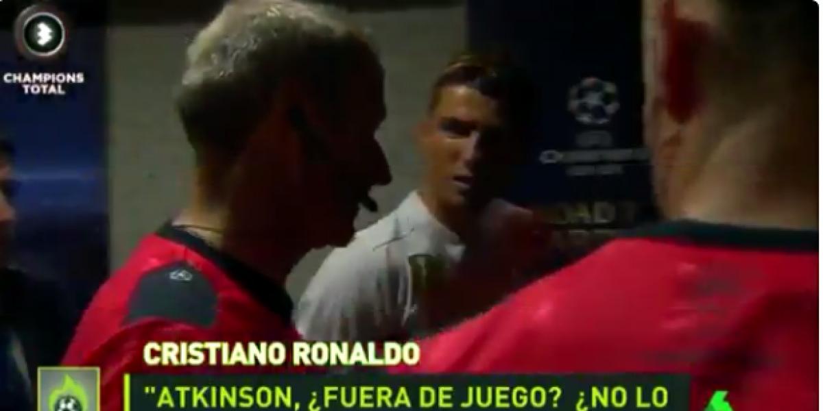 VIDEO: Tras reclamo de Cristiano, árbitro reconoce que no estaba fuera de lugar ante el Atleti