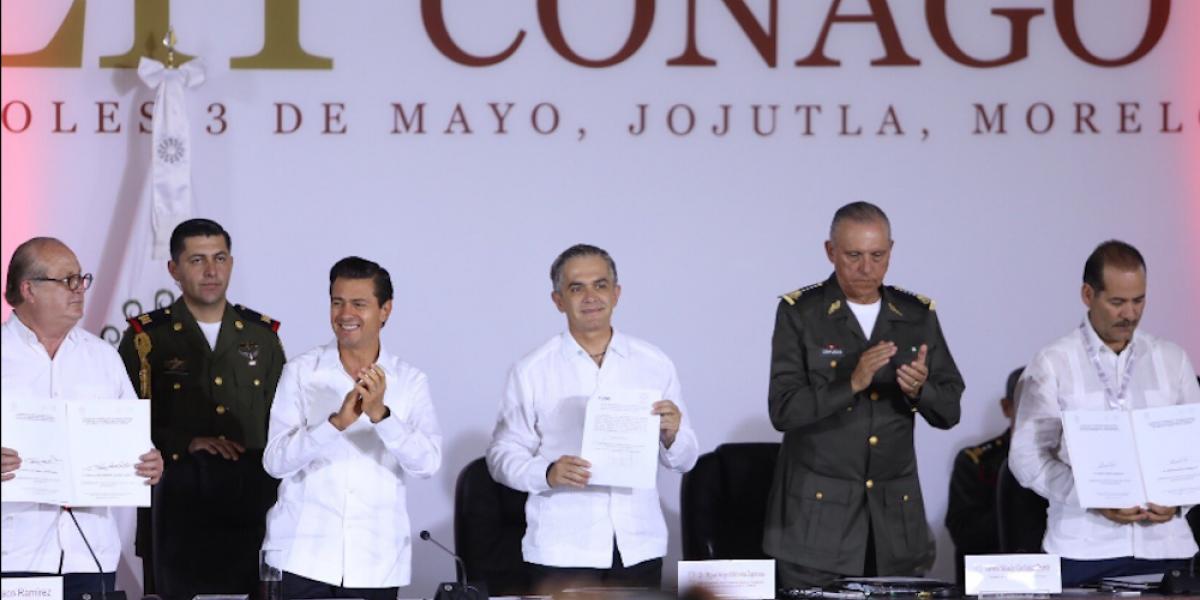 Miguel Ángel Mancera asume presidencia de la Conago