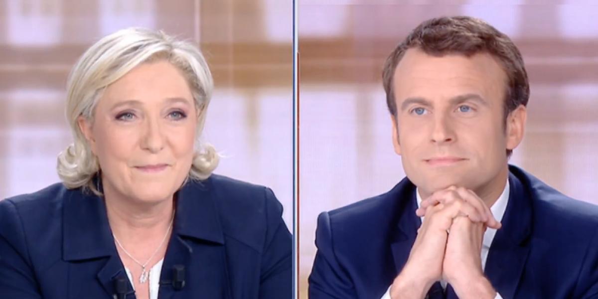 Marine Le Pen y Emmanuel Macron se enfrentan rumbo a las elecciones presidenciales en Francia