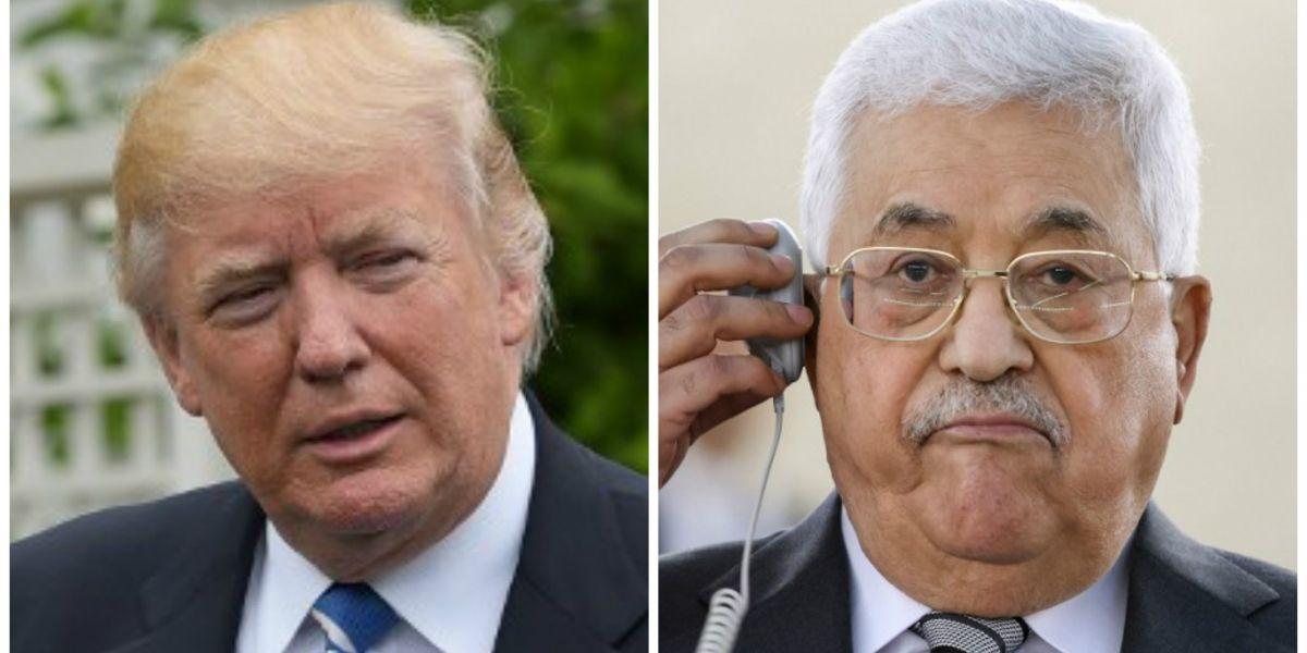 Trump oficia de pacificador, al recibir a Abas en la Casa Blanca