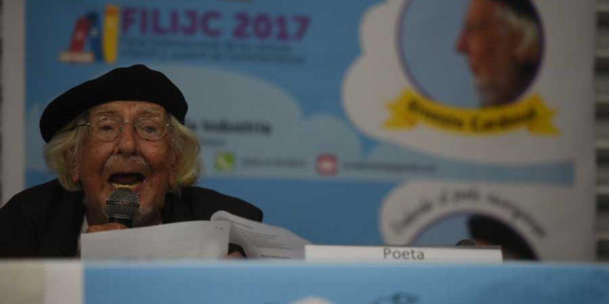 Comenzó la FILIJC 2017 con homenaje al poeta Ernesto Cardenal