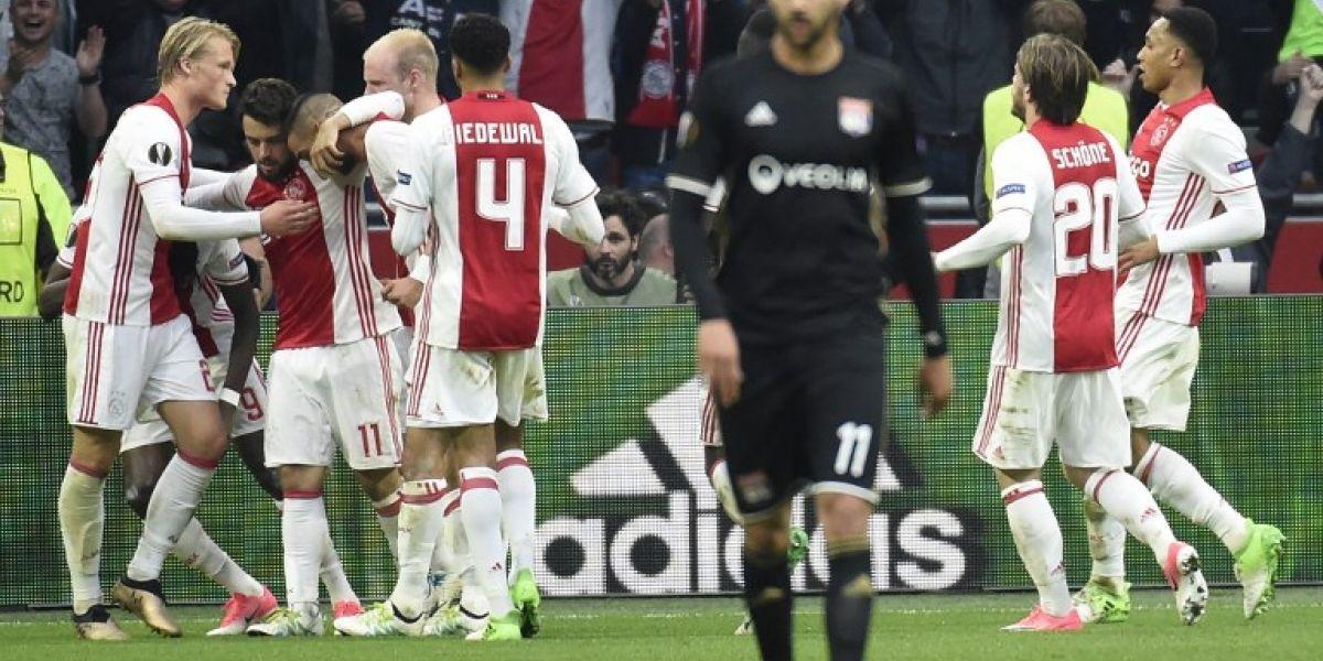 El Ajax golea al Lyon y se acerca a la final de la Europa League