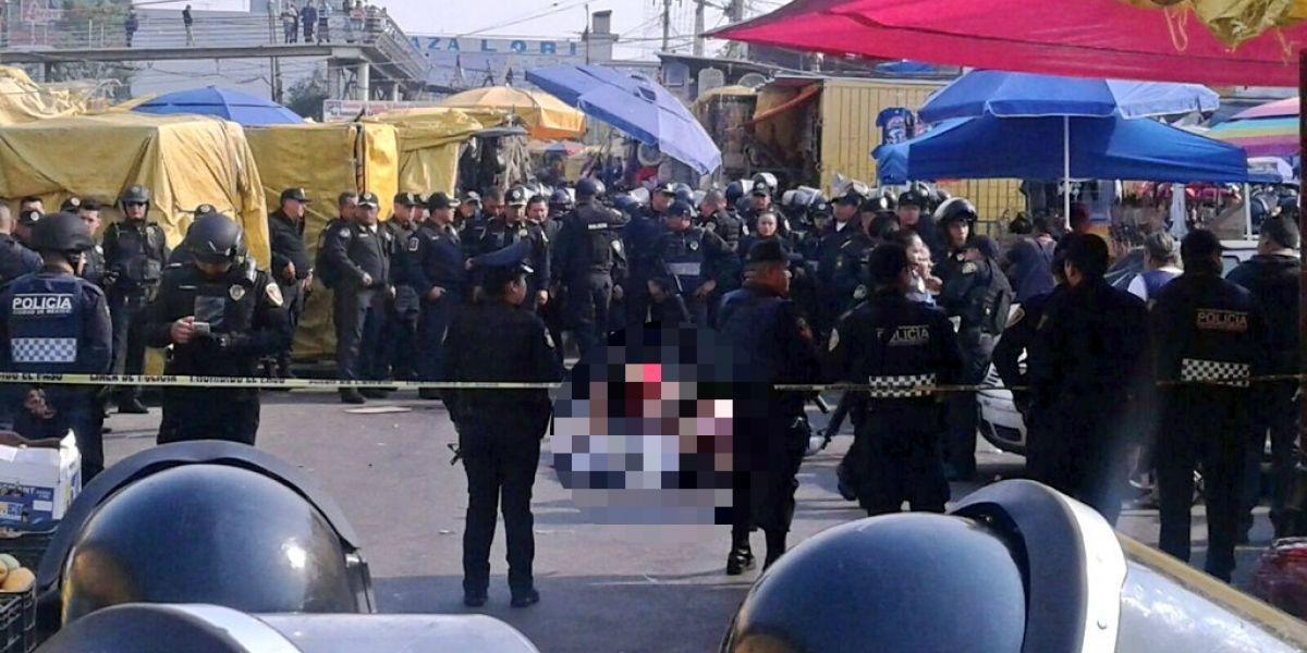 Balacera en el Mercado de Sonora deja 3 muertos