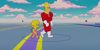 Homero y Lisa se transforman en entrenadores de Pokémon Go — Los Simpsons